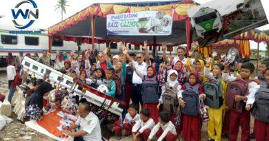 Bakti Sosial Rail Clinic PT KAI DIVRE III Palembang Memberikan Pengobatan Gratis Untuk 1400 Orang dan 200 Kacamata Untuk Siswa SD