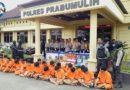 Polres Prabumulih Gelar Press Release Pengungkapan Kasus di Tahun 2019