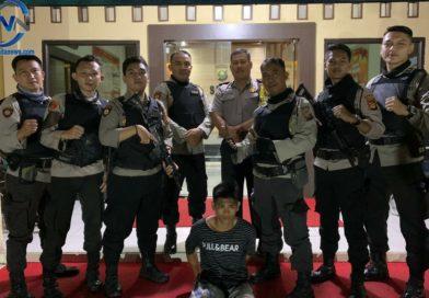 Nongkrong Membawa Sajam, Wahyu Diamankan Team Tantura Polres Prabumulih
