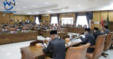 Rapat Paripurna ke-VIII DPRD Kabupaten OKU Bahas Raperda Tahun 2020