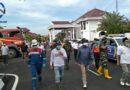 Penyemprotan Masal Disinfektan dan Pembagian Masker Diwilayah Kota Prabumulih