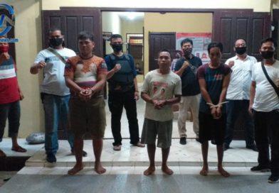Tiga Pelaku Pencuri Pipa Besi Diamankan Team Satreskrim Polsek RKT