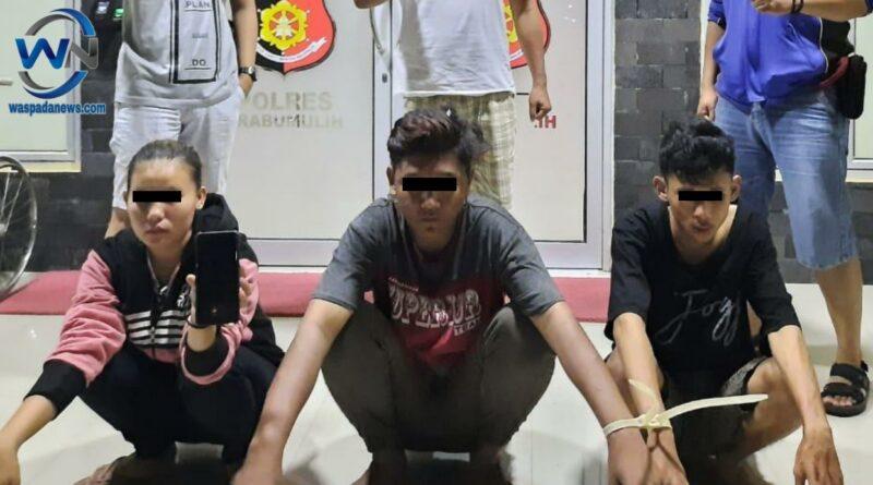 3 Pelaku Jambret Digelandang ke Polres Prabumulih