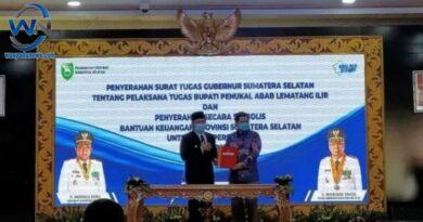 Ferdian Ditunjuk Langsung Oleh Gubernur Sumsel Menjadi PLT Bupati Pali