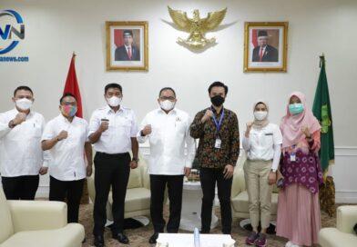 Bupati Muba Dodi Reza Terima Audiensi dengan Media Bisnis Indonesia