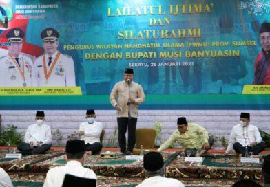 Pererat Silaturahmi dengan NU Sumsel, Bupati Muba Gelar Lailatul Ijtima'