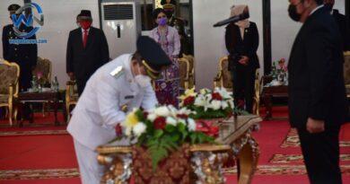 Gubernur Sumsel Lantik Bupati dan Wakil Bupati OKU